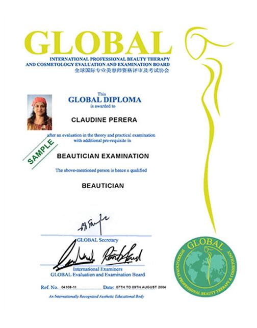 Certificate Clara International Beauty Group