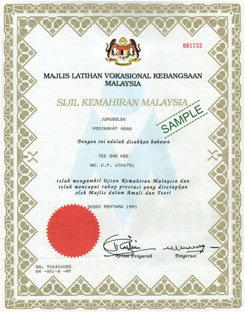 Certificate Clara International